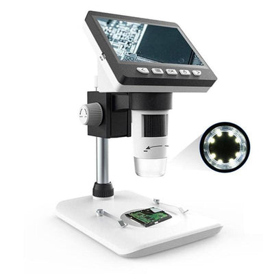 1000X HD1080P 4.3 Inch LCD Digital Microscope Portable Desktop Microscope Magnifier Magnifying Glass