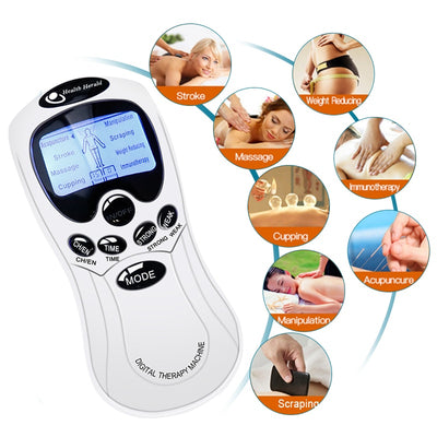 8 Models Electric Herald Tense Muscle Stimulator EMS Acupuncture Body Massage Digital Therapy Machine Electro Stimulator