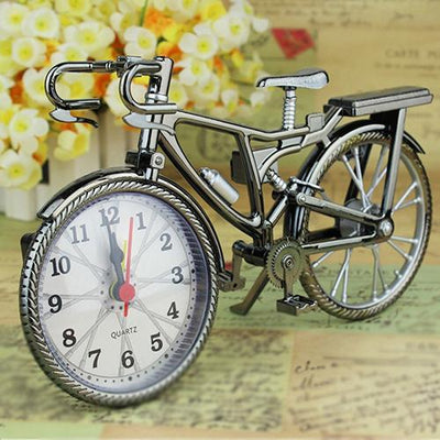 Creative Arabic Numeral Table Alarm Clock Bicycle Design Home Decor