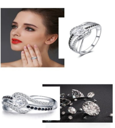 Fine 3.5G Genuine 925 Sterling Silver Jewelry Trendy Engagement Rings for Women Wedding Ring