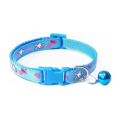 Colorful Dog Collar Bell Adjustable Soft Dog Necklace