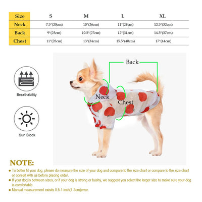 Dog Raincoat Sun-proof Clothing Summer Sun Protection Hoodie Small Dog Clothes Print Poncho For Small Medium Pets Puppy Cat