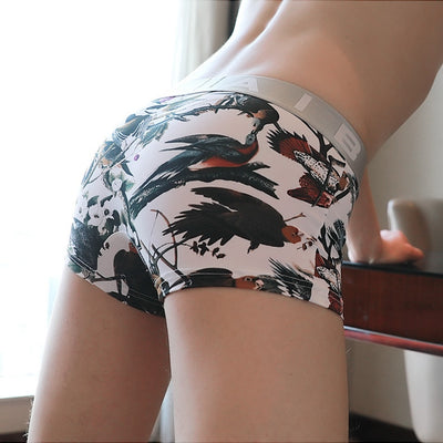 Fashion Elephant Underwear Ice Silk Penis Sheath Sexy Boxers for Men