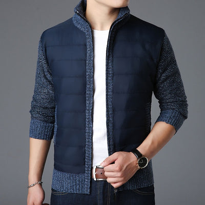 Sweaters Men Cardigan Thick Slim Fit Jumpers Knitwear Zipper Warm Winter Korean Style Casual Men Clothes