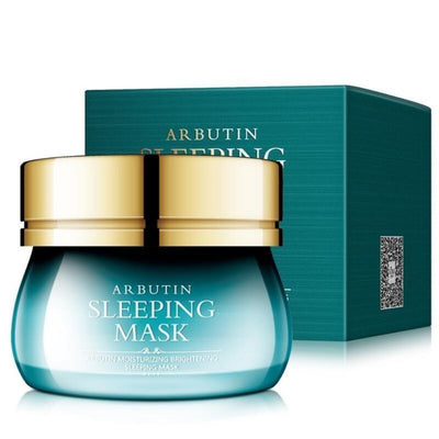Face Sleeping Mask Arbutin Moisturizing Brightening Whitening Hydrating Oil Control Facial Cream Skin Care