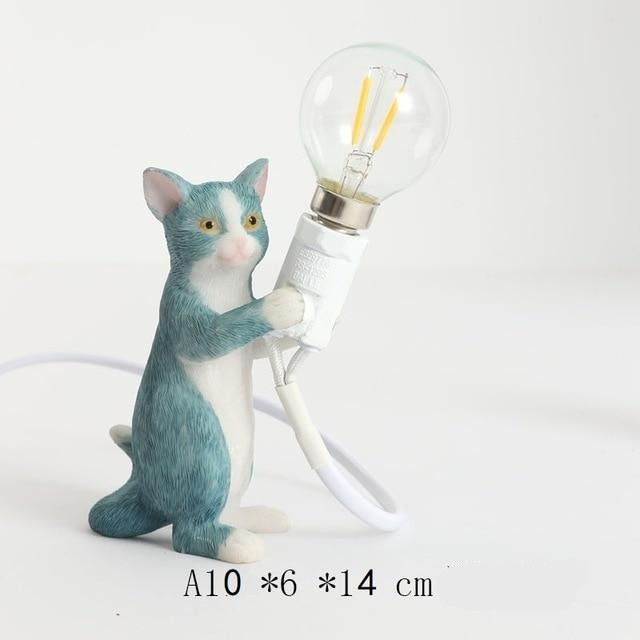 Animals Table Lamp Nordic Children's Bedroom Resin Cat Table Light  Bar Table Light Home Decor Night Light