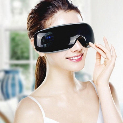 Eye Fatigue Relieve Eyes Care Device Electric Eye Massager Bluetooth Music Magnetic Air Pressure Massage Infrared Heating