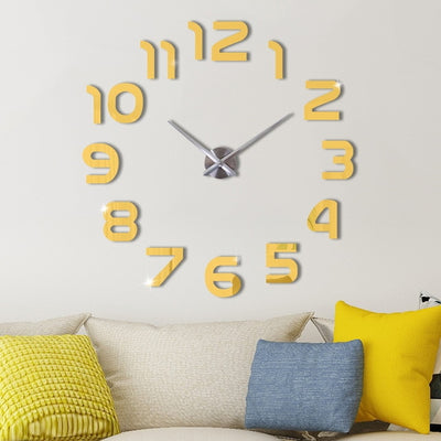 Acrylic Wall Clock - Brief Style