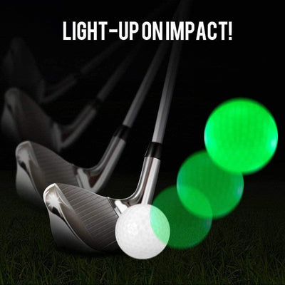 Waterproof LED Golf Balls for Night Training High Hardness Material for Golf Practice 4 pcs/pack