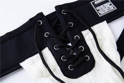 Sexy Thongs Men Footballer Lace Up Waistband Front Lacing Gay Penis String Open Underwear
