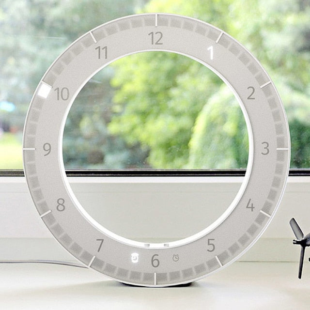 USB LED Digital Wall Clock Modern Design Dual-Use Dimming Digital Circular Photoreceptive Clocks for Home Decoration