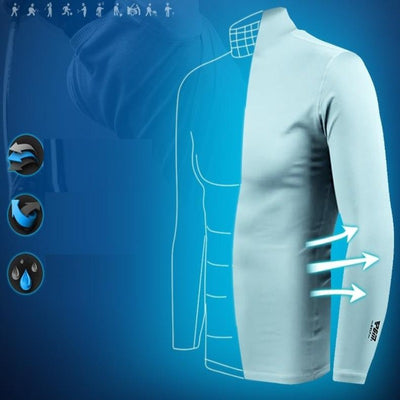 Long Sleeve Golf Shirt Sun UV Protection  Ice Silk T-Shirts Cooling Golf Apparel for Men