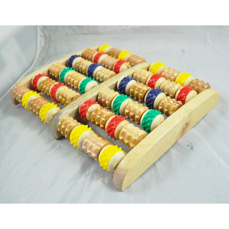 Wooden Foot Roller Massager Reflexology for Stress