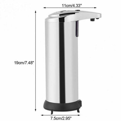 Touchless Soap Liquid Dispenser 250ml Stainless Steel Automatic Soap Dispenser Handsfree Automatic IR Smart Sensor