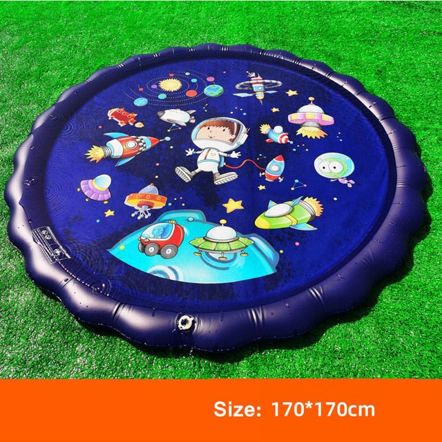 170CM Baby Toys Water Mat Children's Mat Summer Beach Inflatable Spray Water Cushion Outdoor Lawn Baby Play Mat