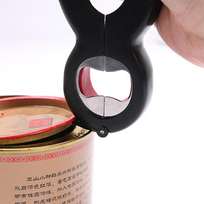 6 in 1 Multi Function Can Beer Bottle Opener All in One Jar Gripper Can Beer Lid Twist Off Jar Wine Opener