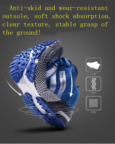 Men's Casual Breathable Running Shoes Rubber Sports Shoes Comfortable Mesh Fashion (Air Mesh) Shoes