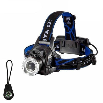 LED Headlamp Fishing Headlight T6/L2/V6 3 Modes Zoomable Waterproof Super Bright Camping Light
