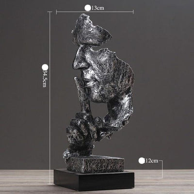 Abstract Resin Whisperer Statue Sculpture Crafts Living Room Bedroom Office Ornaments Modern Home Decoration