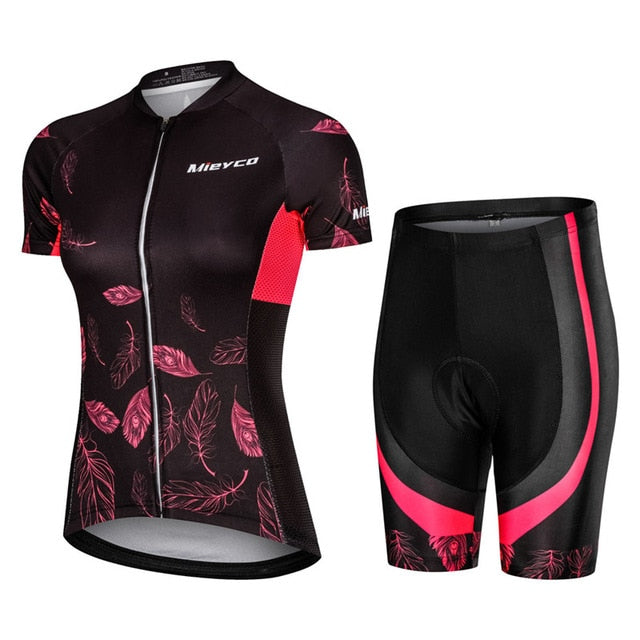 Pro Women Cycling Set MTB Bike Clothing Female Racing Bicycle Clothes Cycle Wear Racing Bib Short Pant Pad