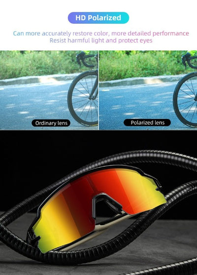Cycling Sport Polarized Glasses for Men Women Lightweight UV400 Running Sunglasses Goggles