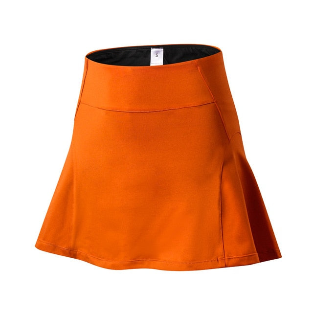 Sports Skort Yoga Fitness Golf Tennis Running Underneath Short Skirt with Pocket Women's High Waist Speed Dry Skirts