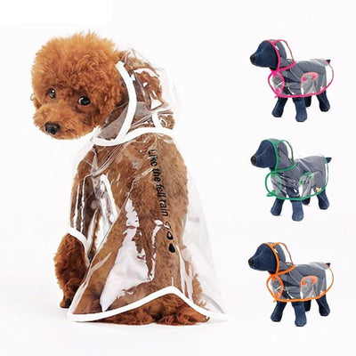 Dog Coat Raincoats Transparent Dog Clothes Waterproof Dogs Pets Clothing for Rain with Hood Cute Dog Clothes Puppy Chihuahua