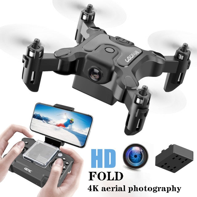 Mini Folding UAV WiFi Remote Control Aircraft Aerial Photography Fixed Height Four Axis Aircraft HD Camera Mini Drone