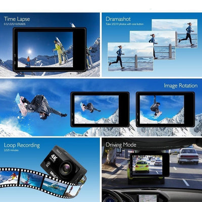 "Waterproof Digital Action Camera Video Camera CMOS Sensor Wide Angle Lens Sports Camera Professional 2.0"" HD 1080P / 24fps"