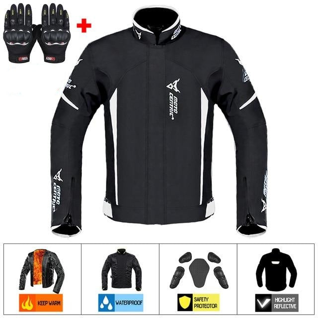 Motorcycle Jacket Man Set Moto Protection Windproof Waterproof Motorbike Riding Moto Jacket + Pants Suit