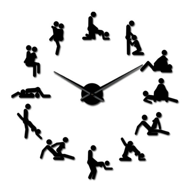 Sex Love Position Wall Clock