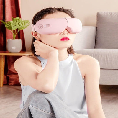 Smart Airbag Vibration Eye Massager Eye Care Instrument Hot Compress Bluetooth Eye Fatigue Massage Glasses Electric