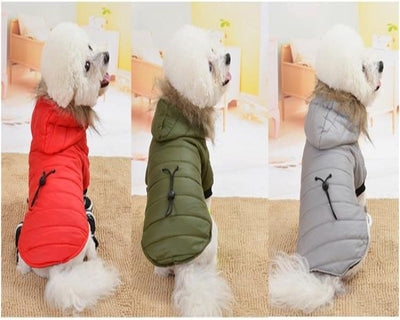 Hood Puppy Jacket Clothing for Chihuahua Winter Warm Small Dog Clothes Fur Pet Cat Dog Coat For Chihuahua Bulldog