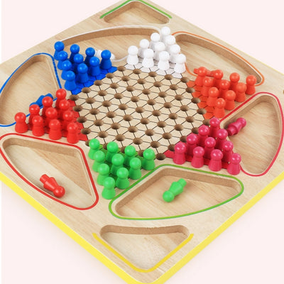 Eighteen One Chess World Jf42 Wood of Parent and Child Board Game Checkers