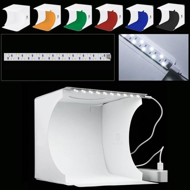 Mini Folding Studio Softbox Photography LED Lightbox