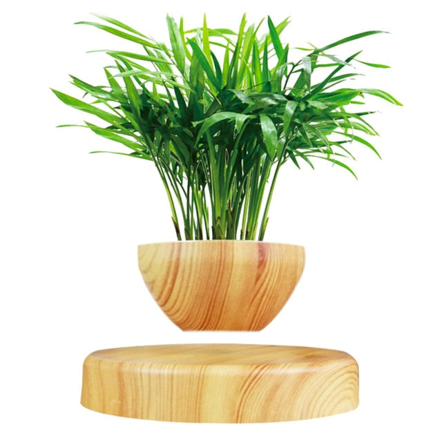Levitating Plant Pot Levitating Air Bonsai Pot Magnetic Rotation Flower Pot For Home Decor Desktop Patio Green Plant Flower Pot