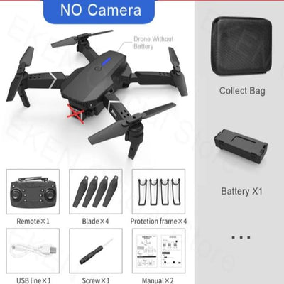 Quadcopter Professional Obstacle Avoidance Drone Dual Camera 1080P 4K Fixed Height Mini Drone Helicopter Toy