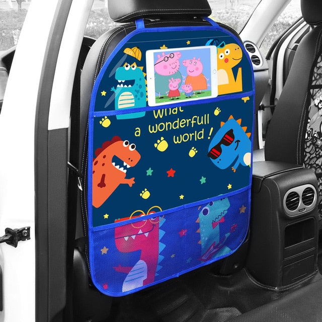 Multi-Use Car Anti Kick Pad PVC Car Seat Protector Car Seat Cover Protector Car Seat Back Cover Protector for Kids Car Interior
