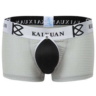 Men Underwear Boxers Shorts Sexy Male Gay Penis Pouch Front Removable Underpants Jockstraps Penis Pouch Pad Panties
