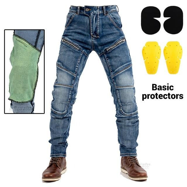 Motorcycle Pants Men's Aramid Motocross Casual Moto Riding Pants Motorbike Touring Moto Jeans Motorcycle Trousers Protective Gear