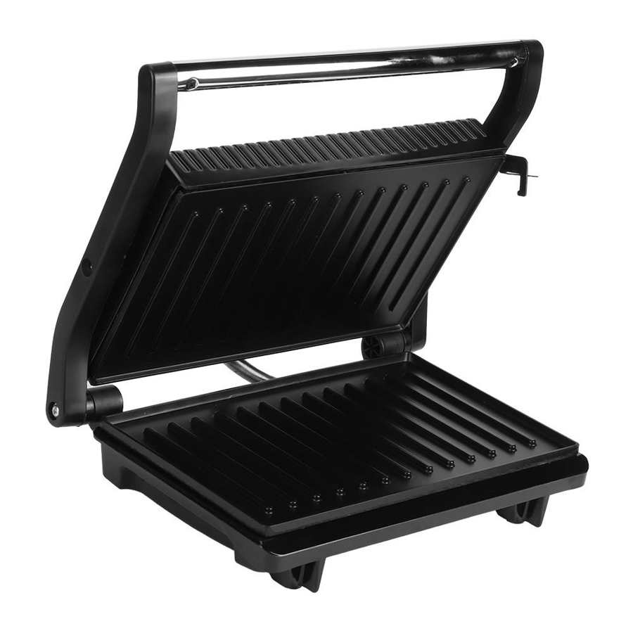 Multifunctional Grill Pan Smokeless Barbecue BBQ Tools Household Panini Breakfast Maker Double Heating Grilled Steak Machine