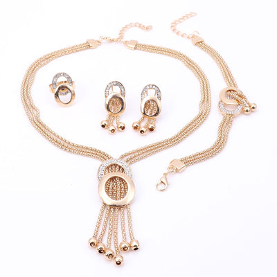 Women Fine Crystal African Beads Jewelry Set