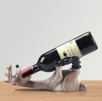 European Resin Drunk Deer Wine Rack Modern Wine Holder Crafts