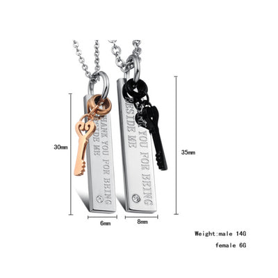 Charm Key Stainless Steel Necklace