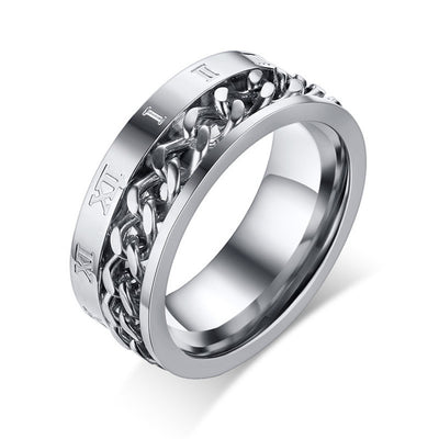 Stainless Steel Spinner Chain Ring for Male