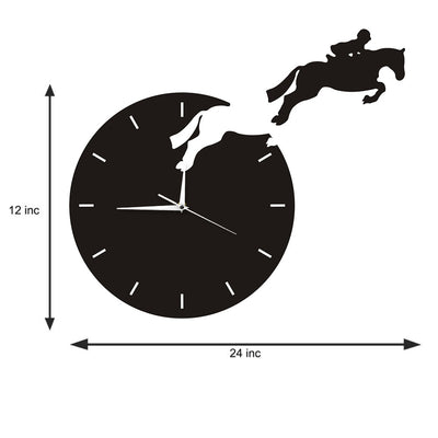 Horse Rider Escape Wall Clock