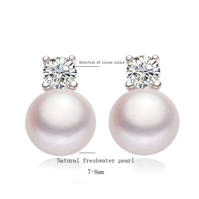 Shinny Pearl Studs Earrings