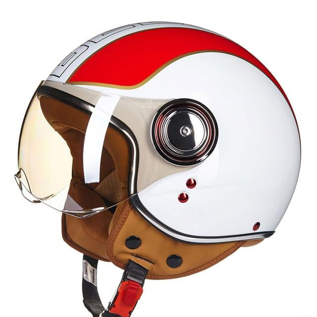 Motorcycle Scooter Helmet 3/4 Open Face