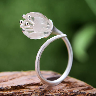 Fine Jewelry Flower Ring for Women