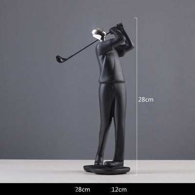 Modern Abstract Black Human Sculptures